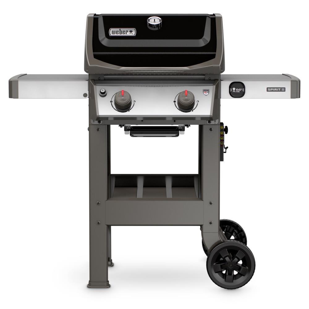 Weber Spirit II E-210 Black 2-Burner Liquid Propane Gas Grill Stainless Steel | 44010001