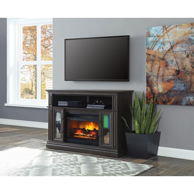 Whalen 47 75 In W Acacia Grain With, Quartz Electric Fireplace