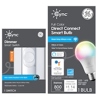 Deals on GE Cync Smart Home Starter Kit Color Smart Bulb + Dimmer Switch