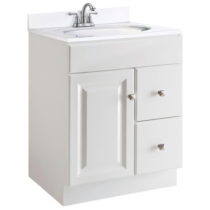 White Bathroom Vanity Cabinet, 24 Inch Bathroom Vanities Without Tops Sinks