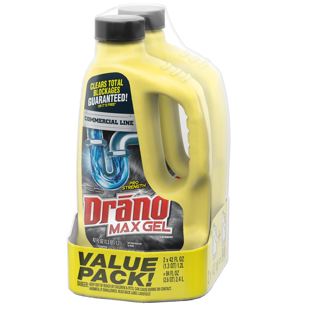 Drano 2 Pack 84 Fl Oz Drain Cleaner In The Drain Cleaners Department At Lowes Com