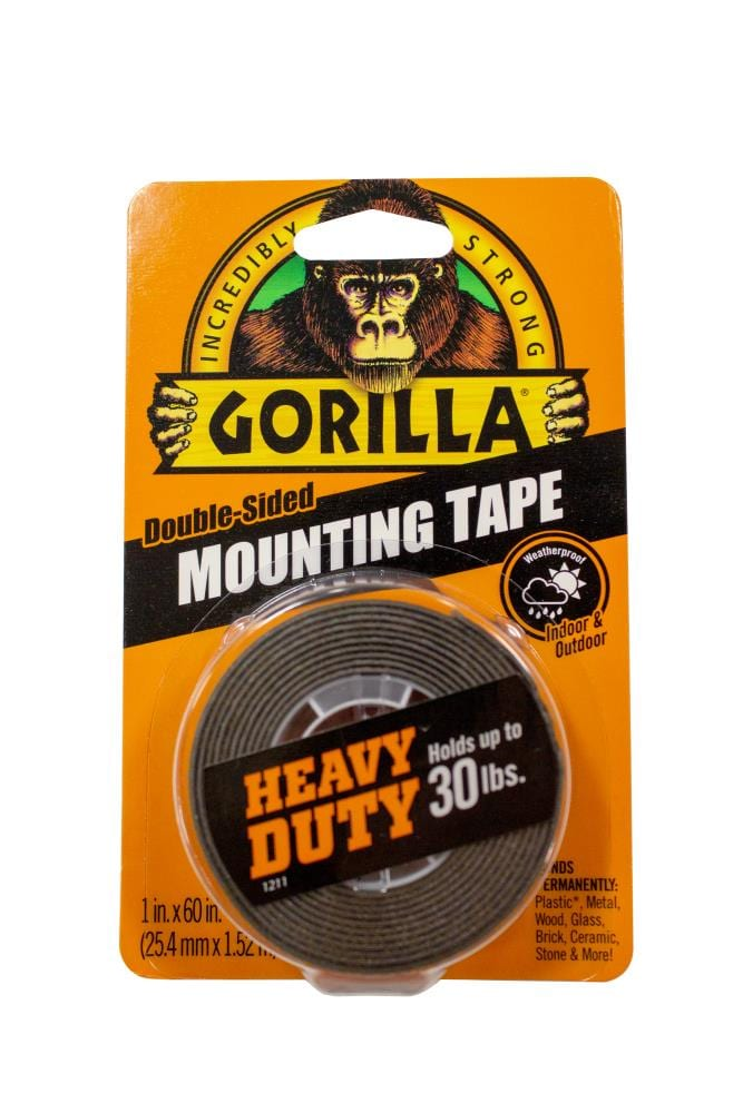 Gorilla Mounting Tape 1 In X 5 Ft, Can I Use Double Sided Tape To Hang A Mirror