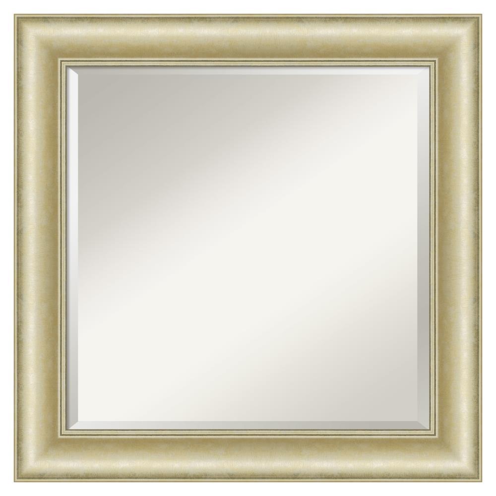 Amanti Art Textured Light Gold Frame, Large Gold Frame Bathroom Mirror