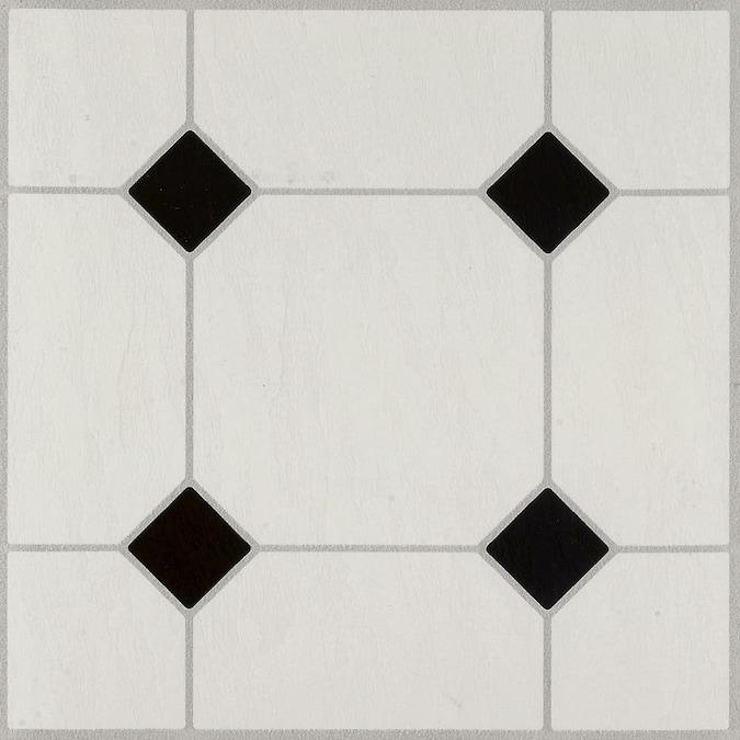 Armstrong Flooring 12 In, Black And White Tile Flooring Vinyl