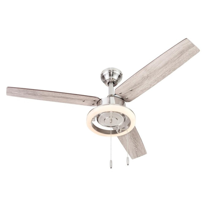 Harbor Breeze Wellsboro 48 In Brushed Nickel Ceiling Fan 3 Blade In The Ceiling Fans Department At Lowes Com