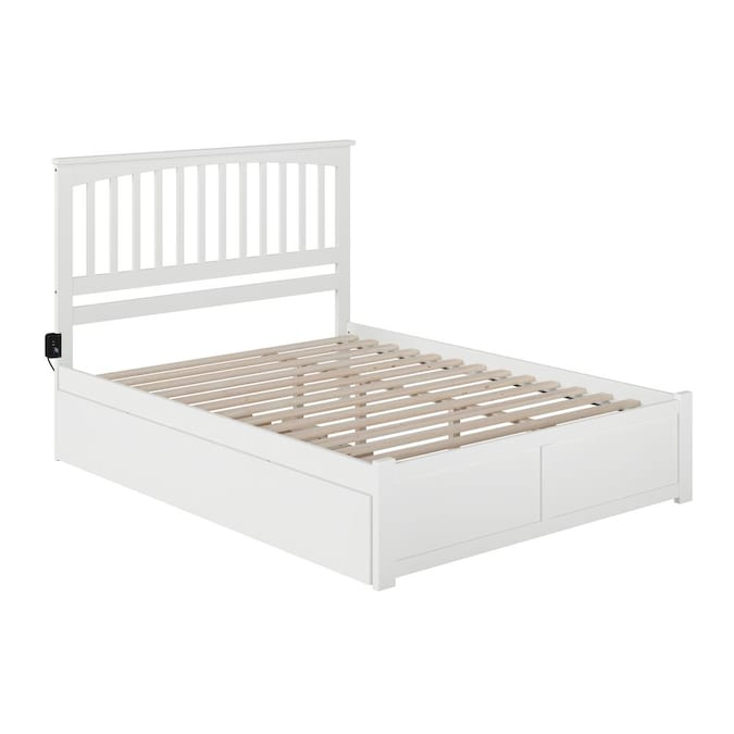 Atlantic Furniture Mission White Queen, Atlantic Bed And Furniture