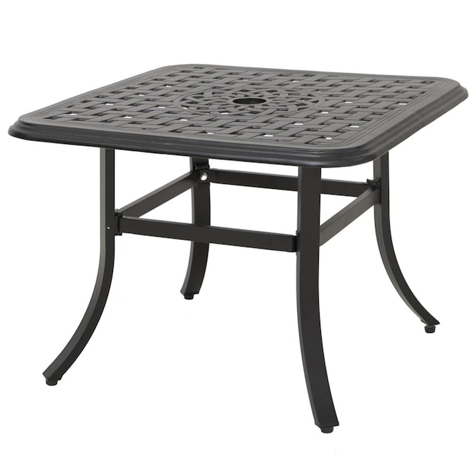 Umbrella Hole In The Patio Tables, Outdoor Patio Dining Table With Umbrella Hole
