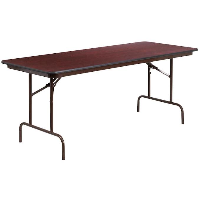 Flash Furniture 30 X 72 Rectangular Mahogany Melamine Laminate Folding Banquet Table, Where Is Flash Furniture Made