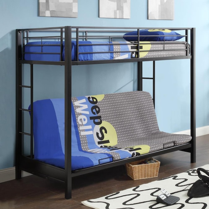 Walker Edison Black Twin Over Futon Bunk Bed In The Bunk Beds Department At Lowes Com