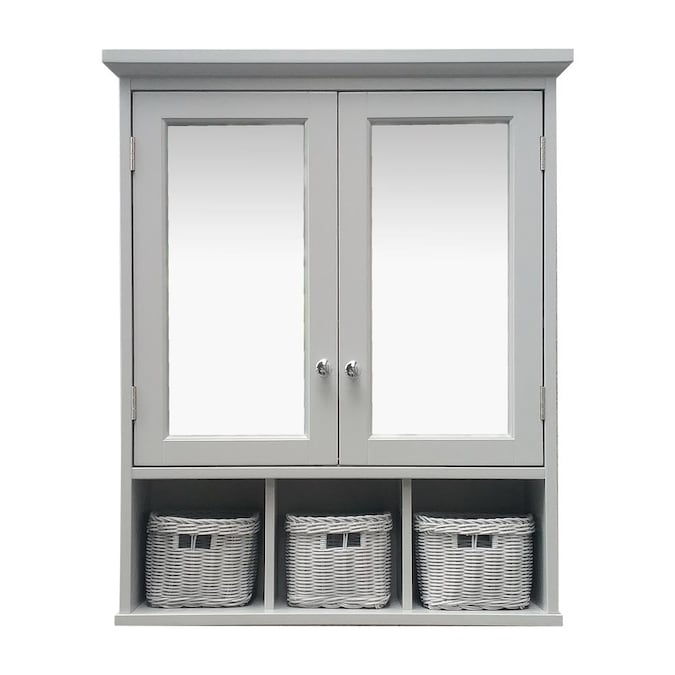 D Grey Bathroom Wall Cabinet, Bathroom Wall Storage Cabinets