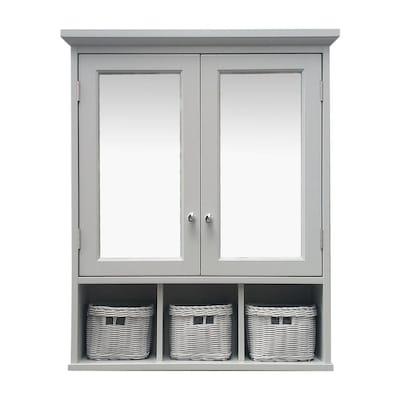 D Grey Bathroom Wall Cabinet, Bathroom Wall Cabinet