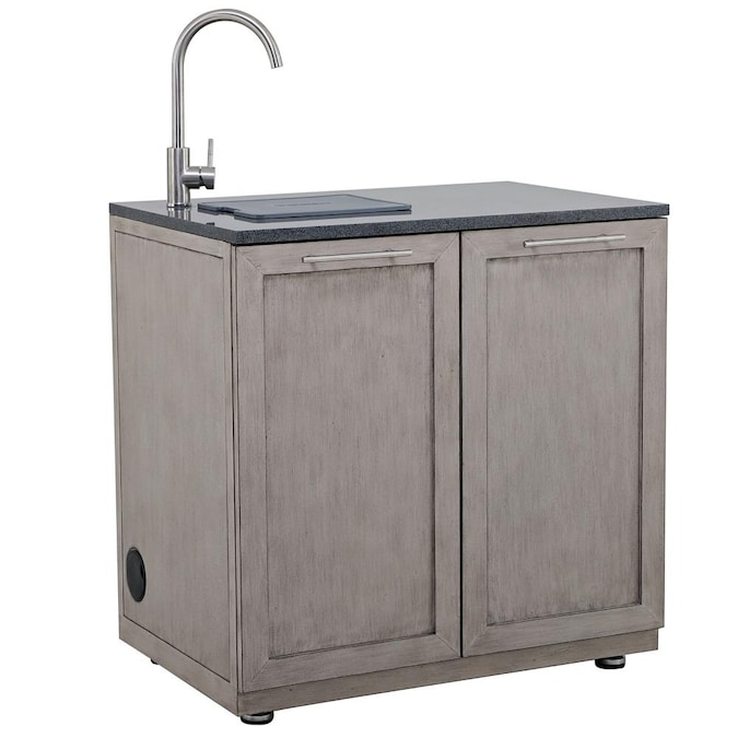 Outsider Barbecues Driftwood Shore 36 02 In W X 24 21 In D X 35 82 In H Outdoor Kitchen Sink In The Modular Outdoor Kitchens Department At Lowes Com