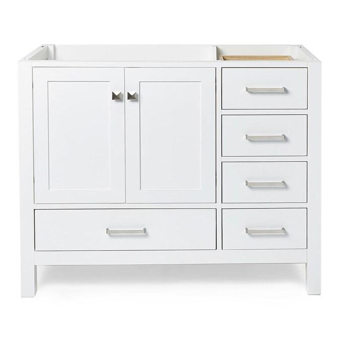 White Bathroom Vanity Cabinet, Cambridge 42 In W Vanity Cabinet