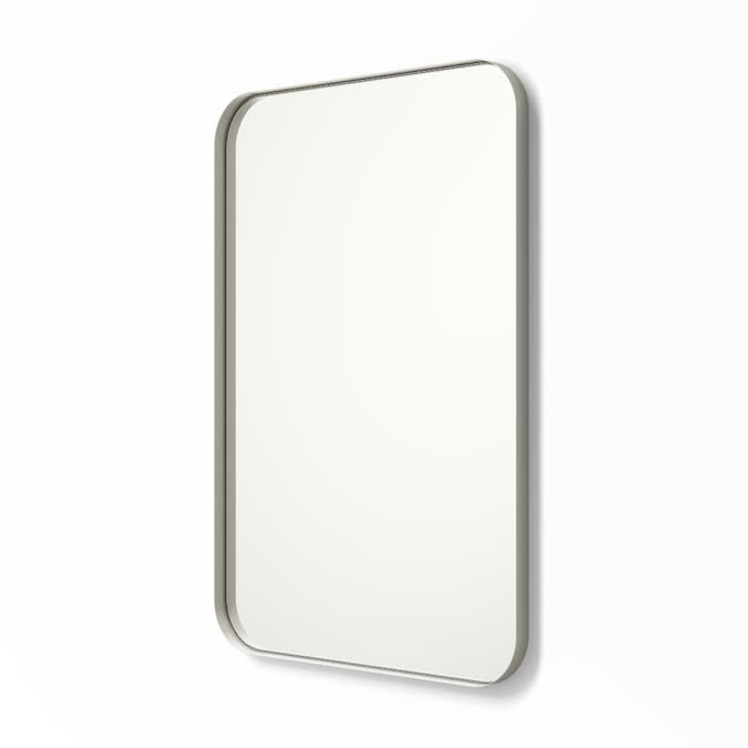 In Nickel Rectangular Bathroom Mirror, 24 X 36 Brushed Nickel Vanity Mirror