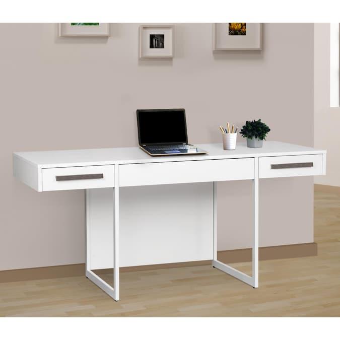 Saint Birch Alaska 64 5 In White Modern, White Modern Office Desk