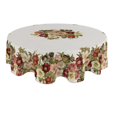 Laural Home Vintage Petals 70 Round, What Size Tablecloth Do I Need For A 70 Inch Round Table