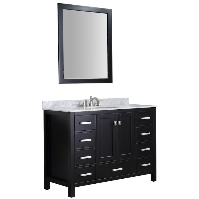 Anzzi Cau 48 In Black Undermount, What Size Mirror Goes With A 48 Inch Vanity