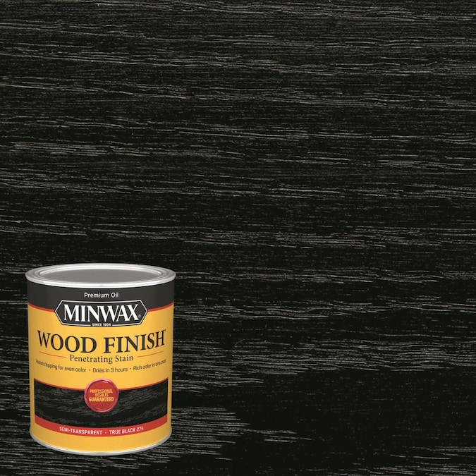 Minwax Wood Finish Oil Based True Black Semi Transpa Interior Stain 1 Quart In The Stains Department At Com - How To Stain A Wooden Table Black