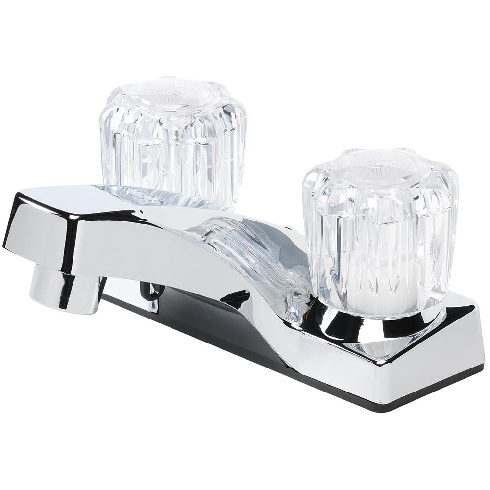 Chrome 2 Handle 4 In Centerset Watersense Bathroom Sink Faucet In The Bathroom Sink Faucets Department At Lowes Com