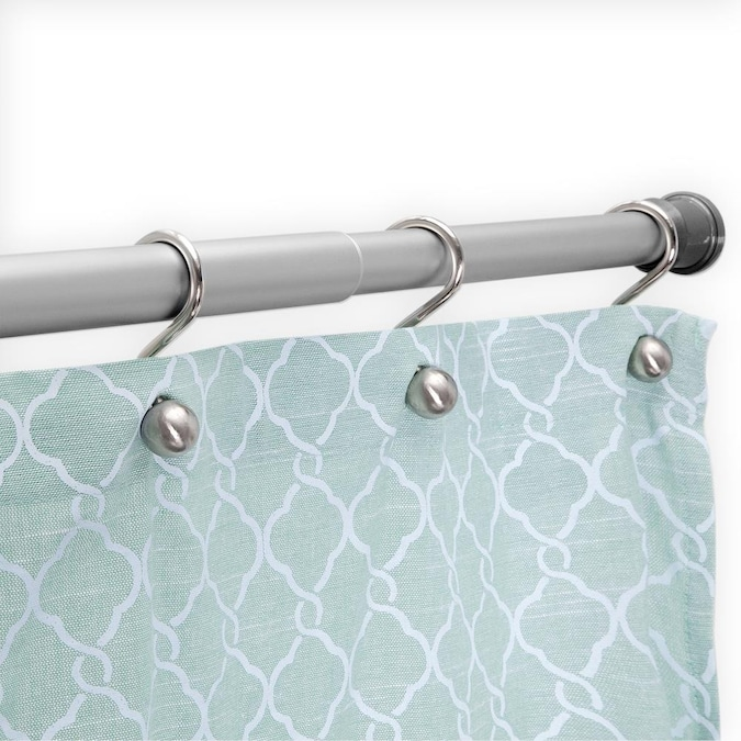 Shower Rods Department At, How To Put Up Tension Shower Curtain Rod