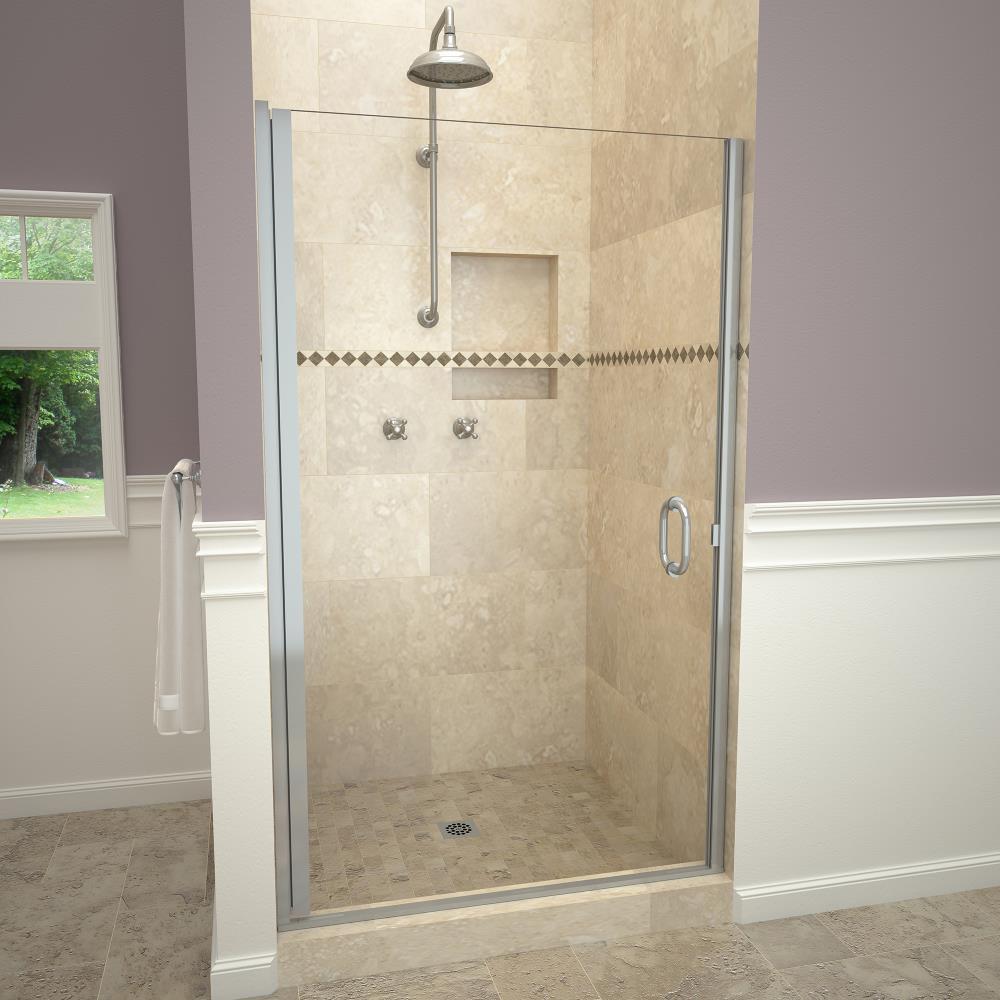 Redi Swing 72 In Semi Frameless Hinged, Swinging Bathroom Doors