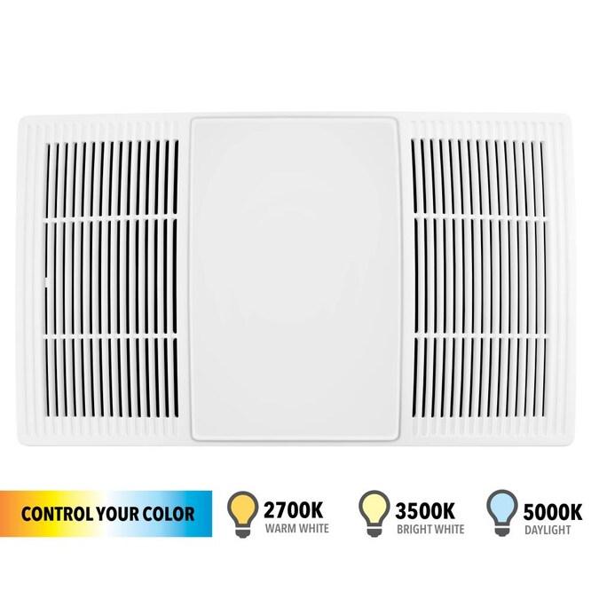 Broan 70 80 Cfm Size Heater Exhaust, Bathroom Heater Fan Light Cover