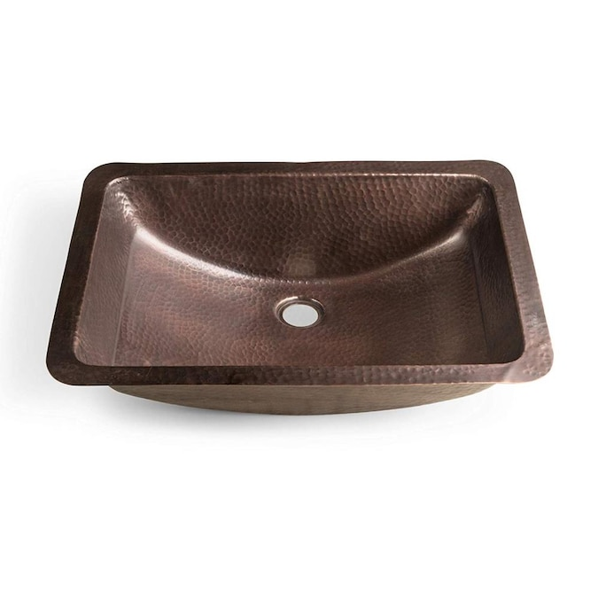 Monarch Abode Hand Hammered Copper Hand Hammered Copper Copper Drop In Or Undermount Rectangular Bathroom Sink 20 75 In X 14 75 In In The Bathroom Sinks Department At Lowes Com