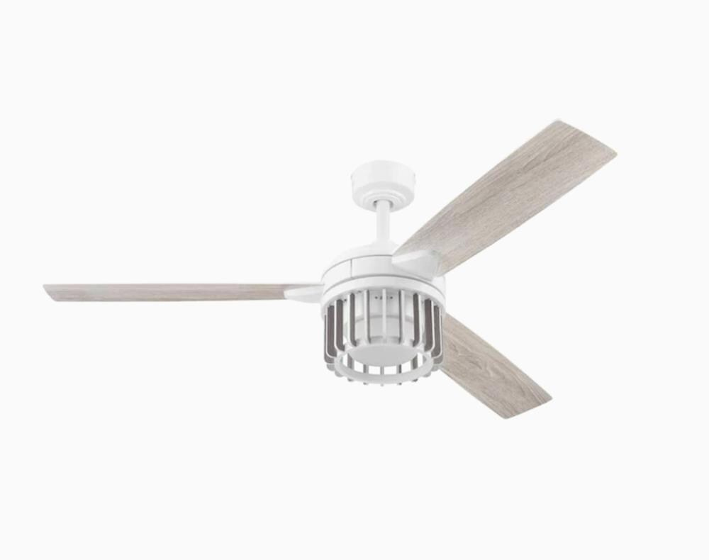 Harbor Breeze Elmhurst 52 In White Ceiling Fan With Remote 3 Blade In The Ceiling Fans Department At Lowes Com