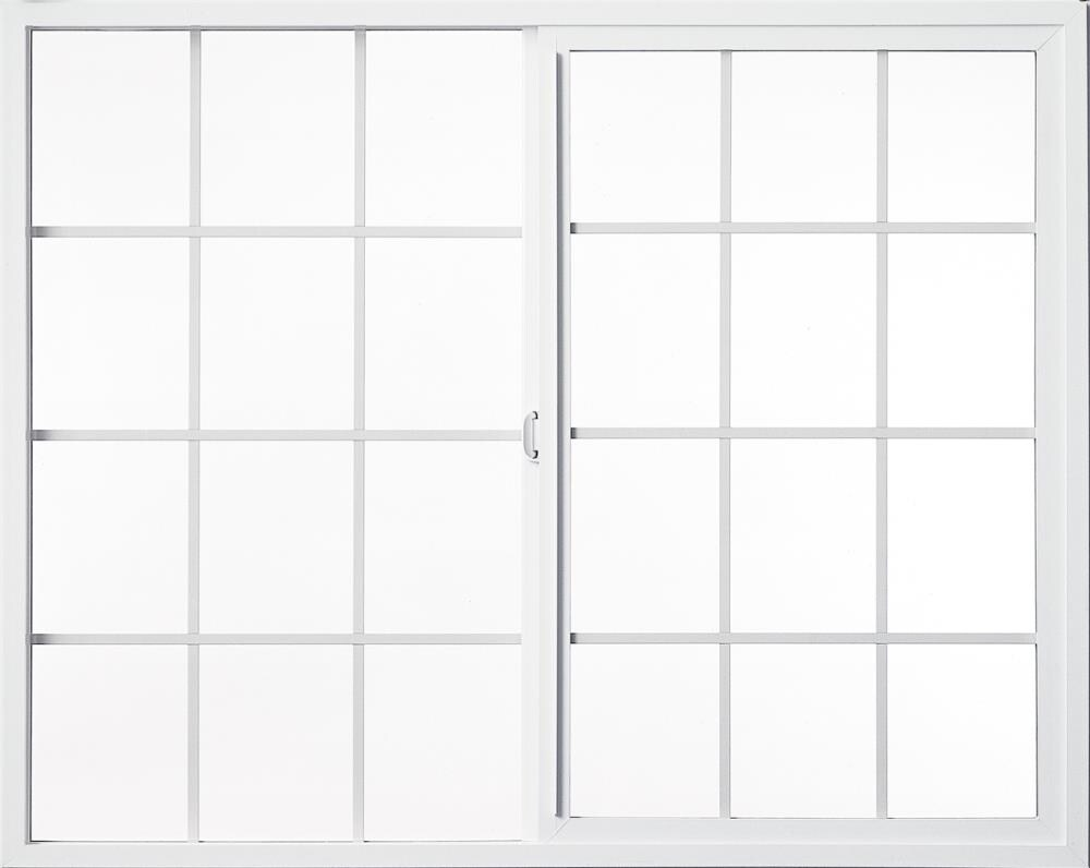 Style Line 71.5-in x 71.5-in x 2.875-in Jamb Between The Glass Left-operable Vinyl New Construction Egress White Sliding Window   - Milgard 6110-6060G