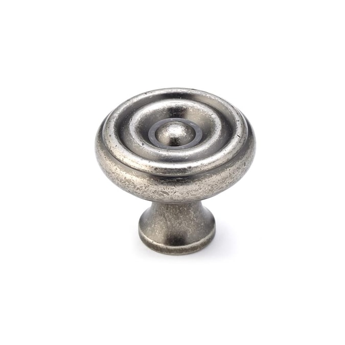 Richelieu 1 26 In Pewter Round Traditional Cabinet Knob In The Cabinet Knobs Department At Lowes Com