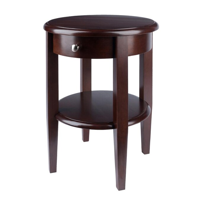 Winsome Wood Concord Antique Walnut, Small Round End Table