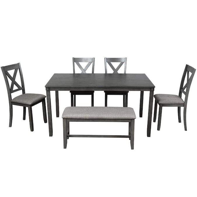 Casainc 6 Piece Kitchen Dining Table, Dining Room Sets For 6