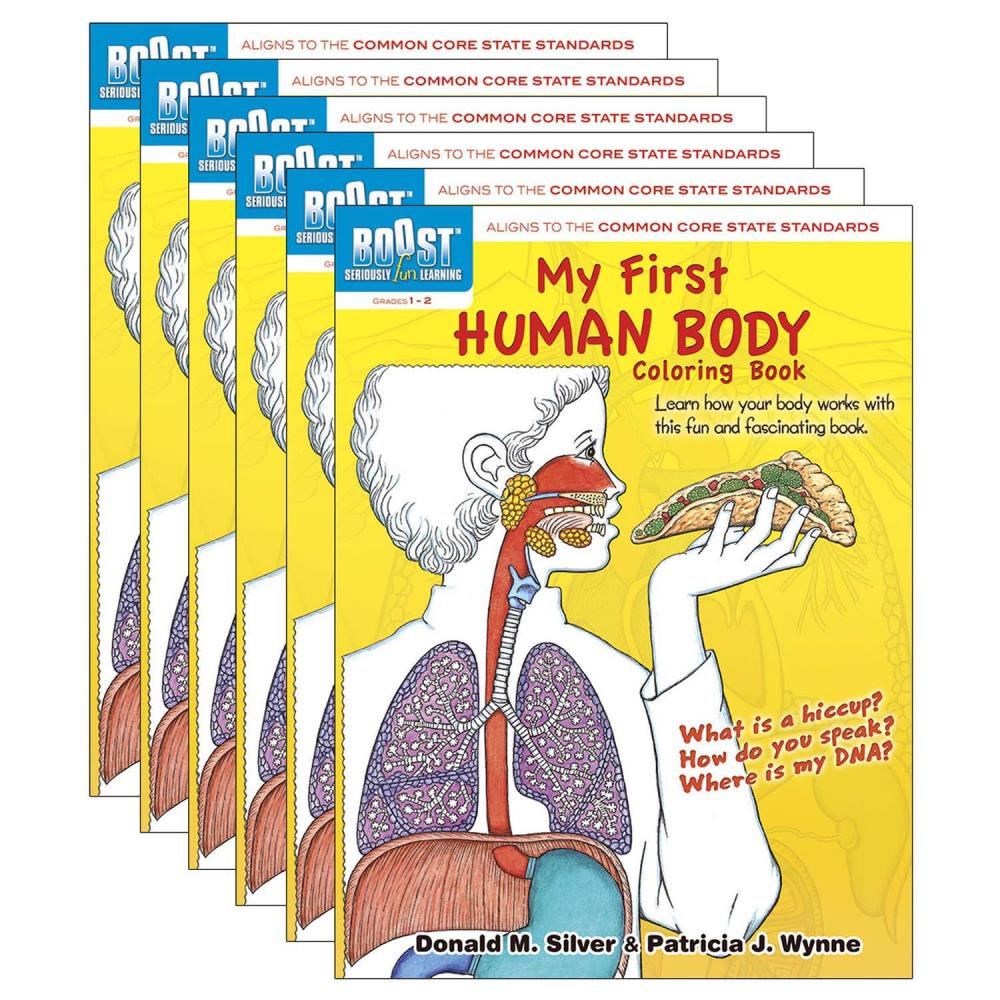 Dover Publications My First Human Body Coloring Book, Pack Of 6 In The Books  Department At Lowes.com