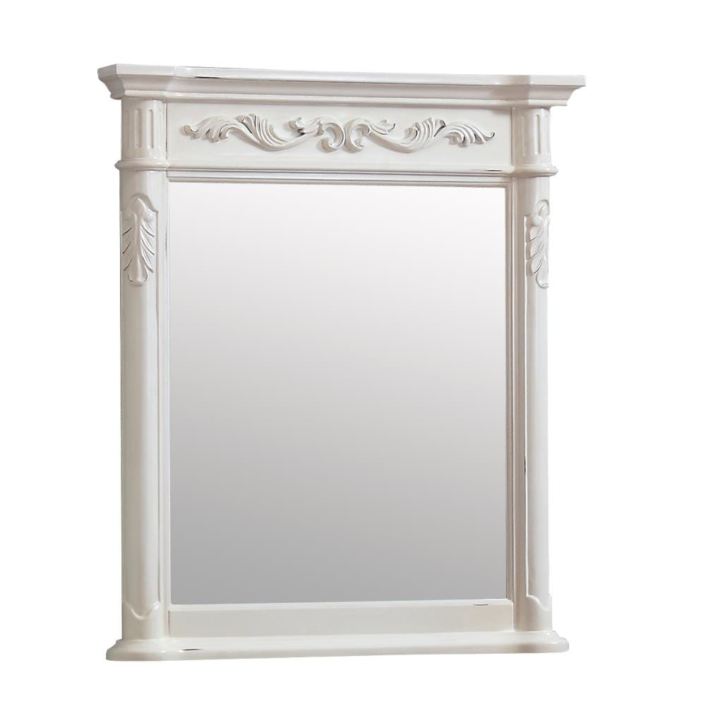 Avanity Provence 30 In Antique White Rectangular Bathroom Mirror In The Bathroom Mirrors Department At Lowes Com