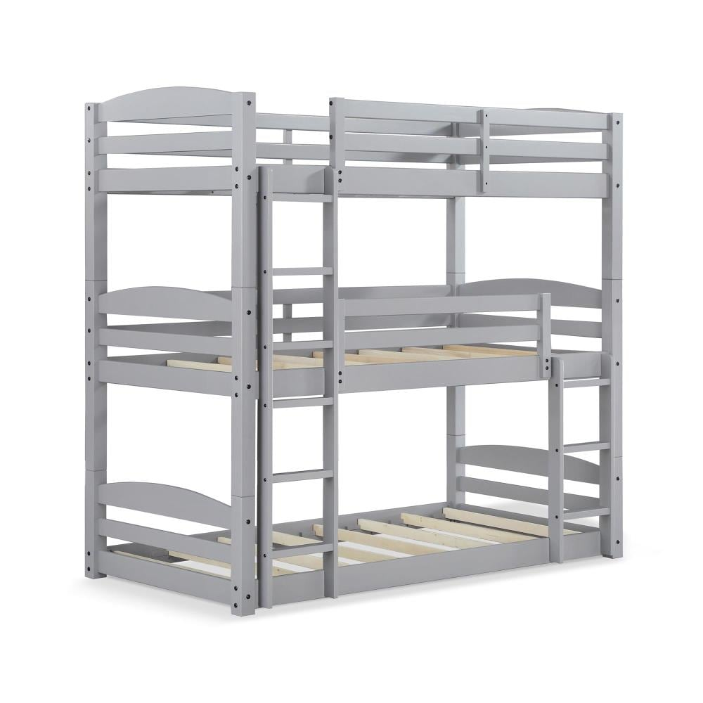Dhp Sierra Gray Twin Over Twin Bunk Bed In The Bunk Beds Department At Lowes Com