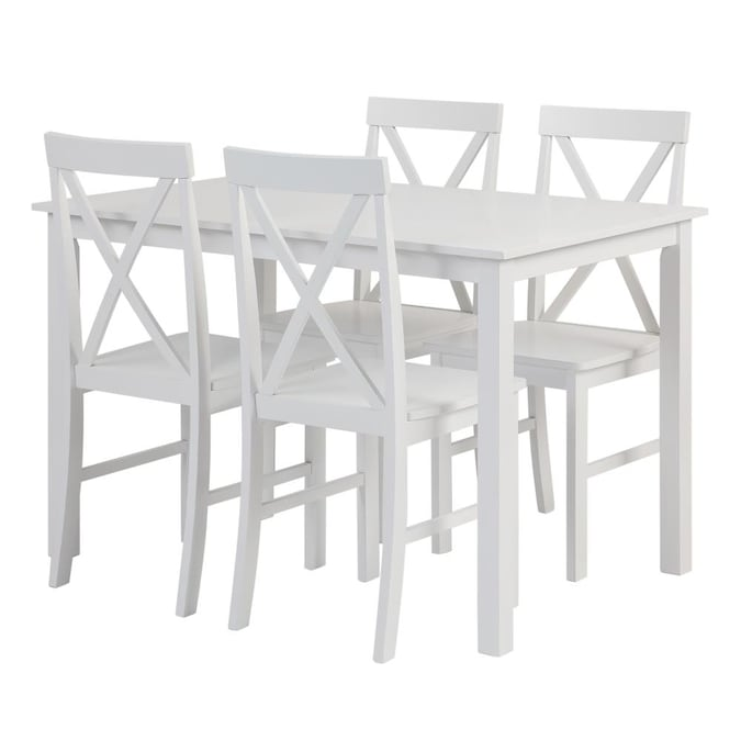 Dining Room Set With Rectangular Table, White Dining Room Sets