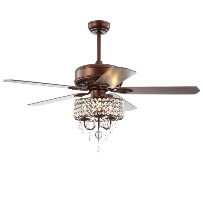Jonathan Y Traditional 52 In Oil Rubbed Bronze Led Ceiling Fan With Remote 5 Blade In The Ceiling Fans Department At Lowes Com