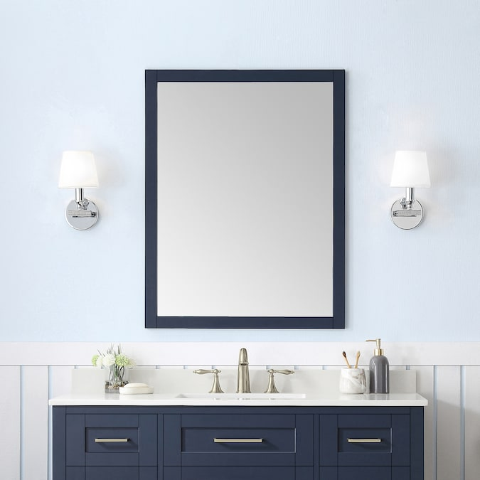 Ove Decors Tahoe 28 In Midnight Blue Rectangular Bathroom Mirror In The Bathroom Mirrors Department At Lowes Com