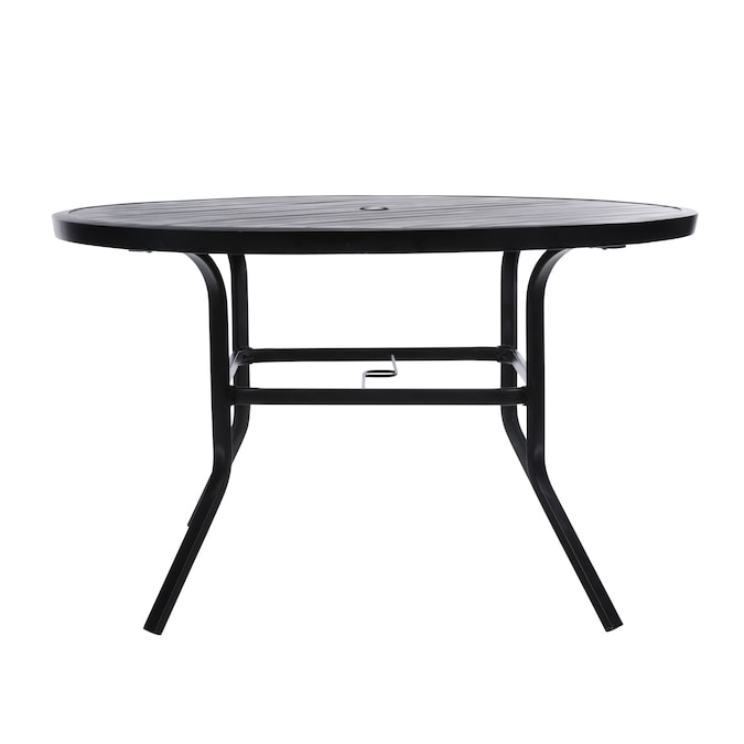 Style Selections Pelham Bay Round, Round Metal Outdoor Coffee Table Canada