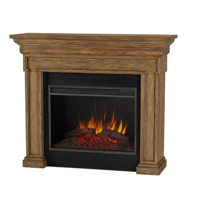 Real Flame 55 875 In W English Oak Fan, Oak Electric Fireplaces
