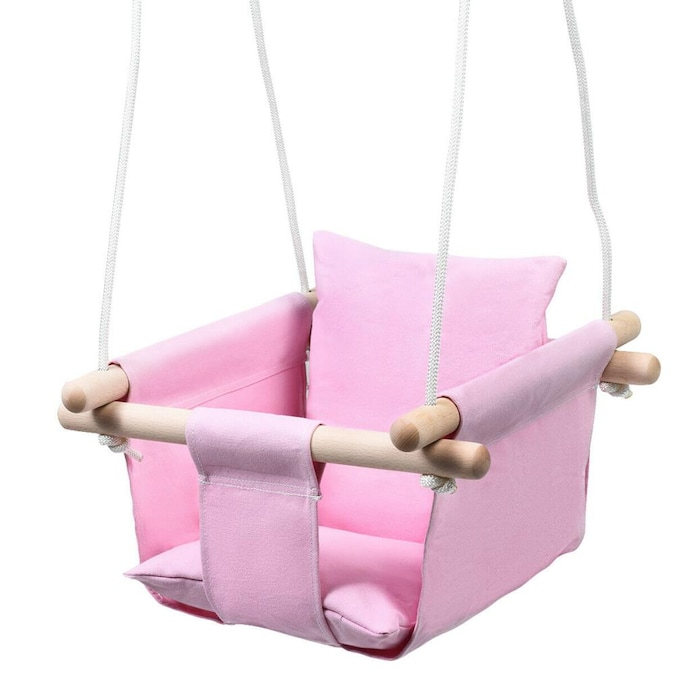Clihome 10in X10in L X W Pink Outdoor, Toddler Outdoor Swing Seat