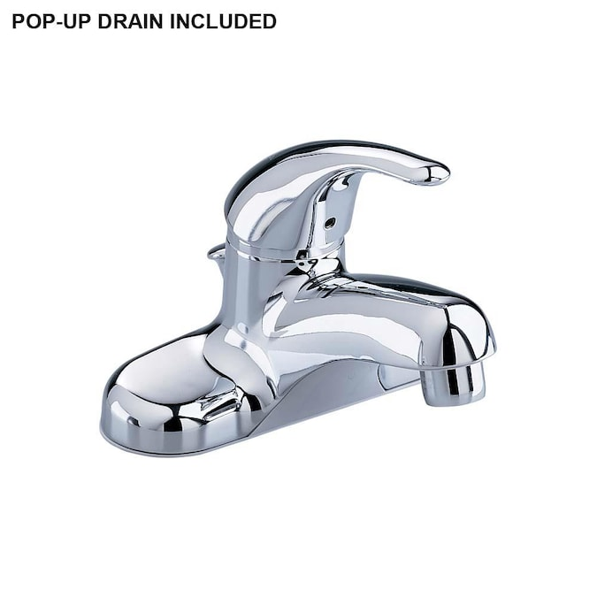 American Standard Colony Polished Chrome 1 Handle 4 In Centerset Watersense Bathroom Sink Faucet With Drain In The Bathroom Sink Faucets Department At Lowes Com