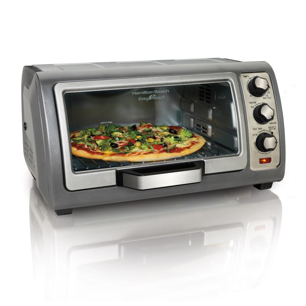 Hamilton Beach Easy Reach Toaster Oven with Roll-Top Door