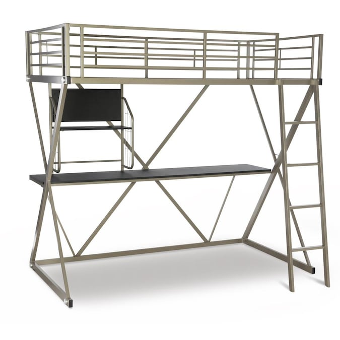 Powell Youth Furniture Pewter Twin Loft Bunk Bed In The Bunk Beds Department At Lowes Com