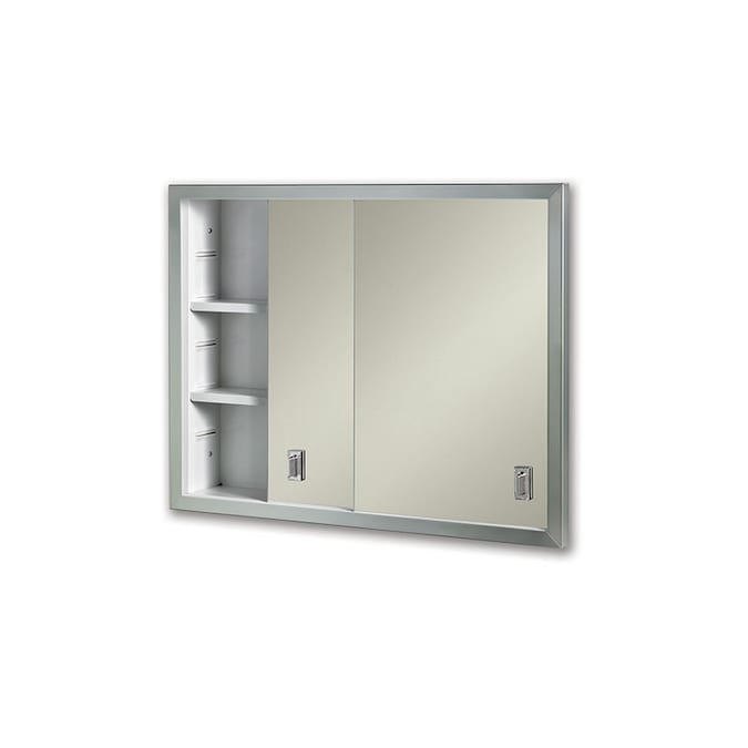 Jensen Contempora 24 625 In X 19 1875 In Recessed Stainless Steel Mirrored Rectangle Medicine Cabinet In The Medicine Cabinets Department At Lowes Com