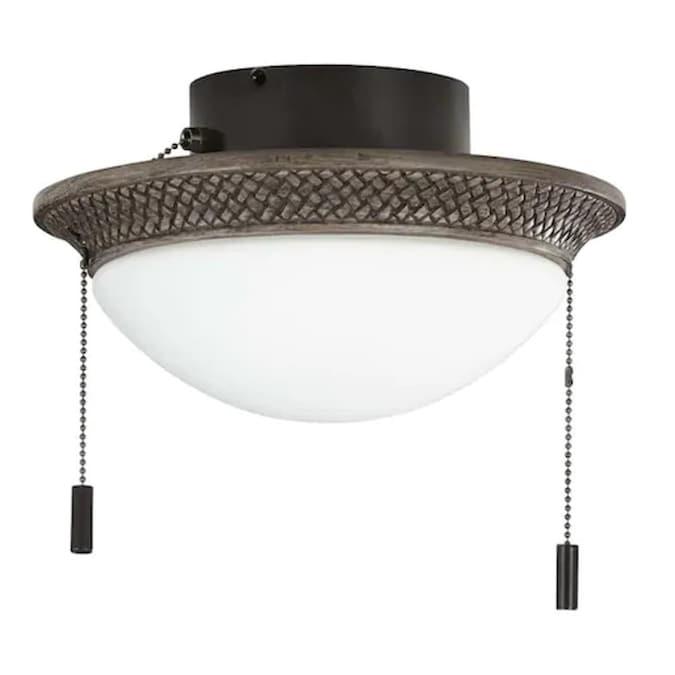 Harbor Breeze Tilghman Ii 2 Light Bronze Led Ceiling Fan Light Kit In The Ceiling Fan Light Kits Department At Lowes Com