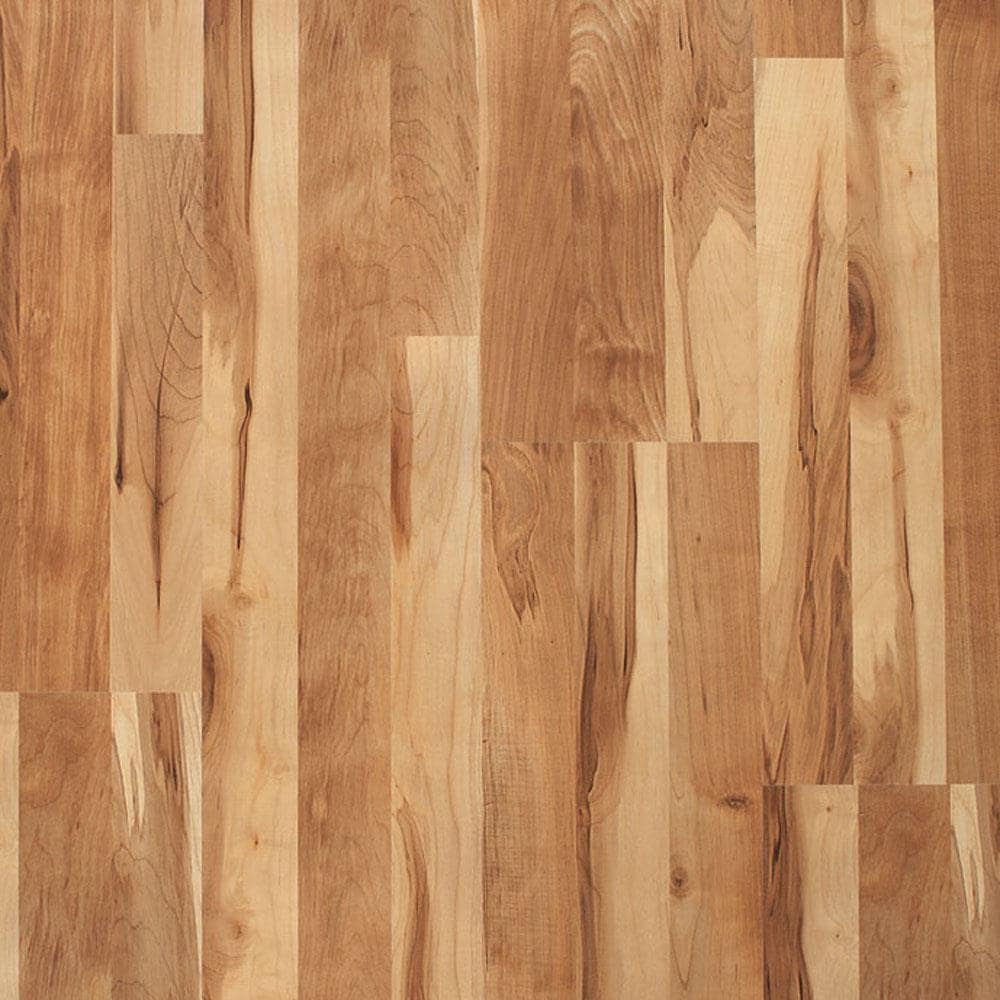 Style Selections Natural Maple 7 Mm, Hampton Bay Brilliant Maple Laminate Flooring