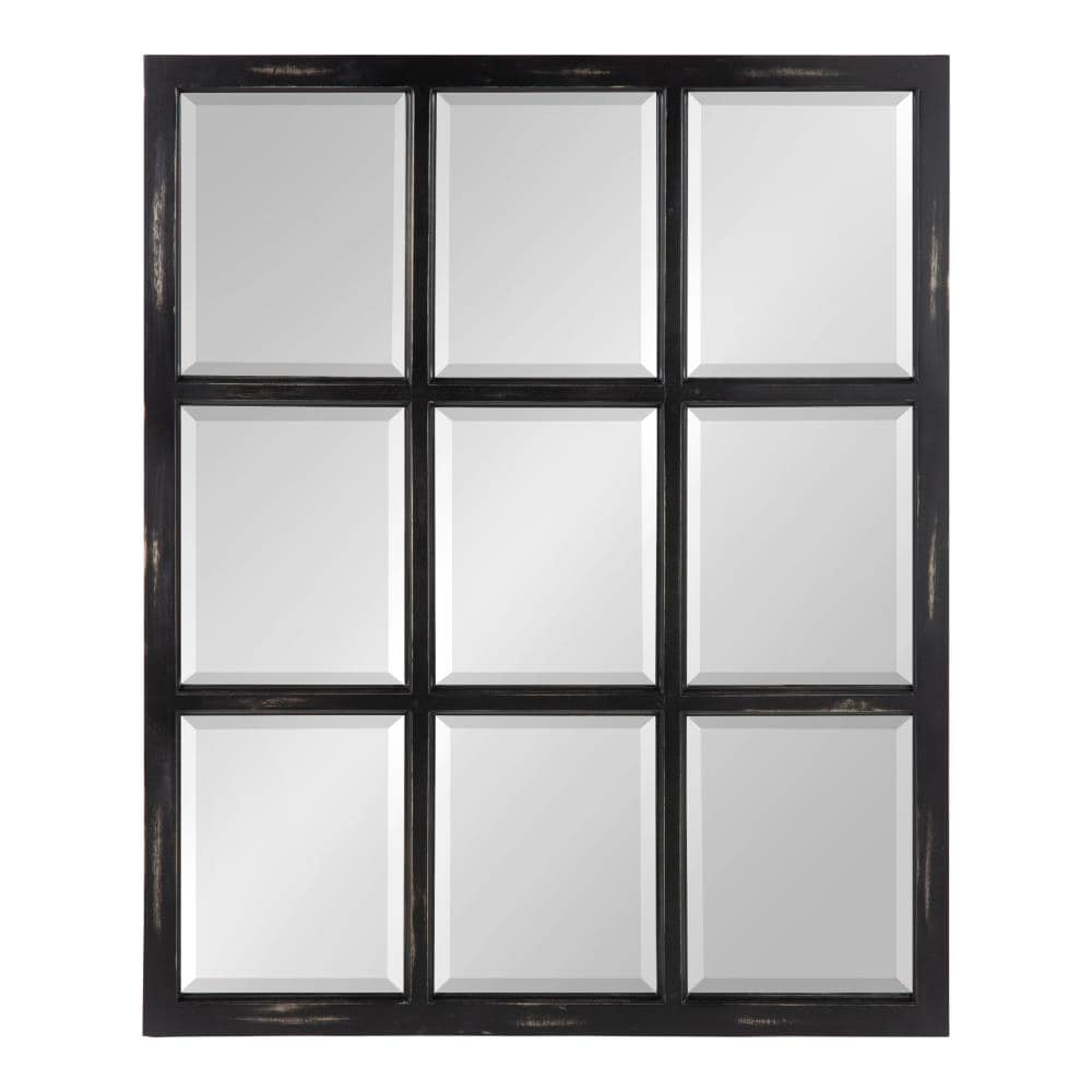 Kate and Laurel Hogan 32-in L x 26-in W Black Framed Wall Mirror ...