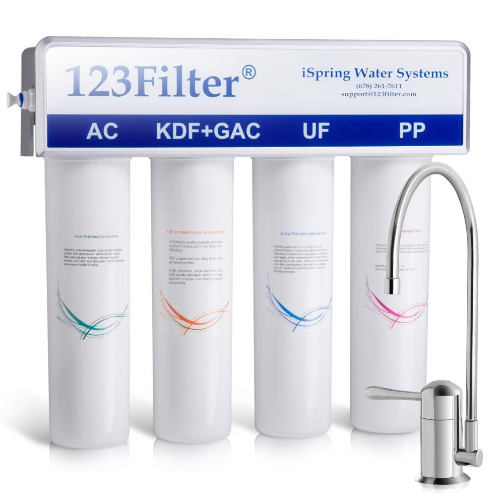 Ispring Cu A4 4 Stage Inline Drinking Water Filter Gac Under Sink Filtration System In The Systems Department At Lowes