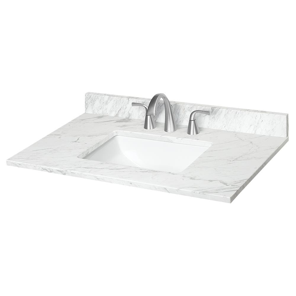 31 In Ariston Natural Marble Single Sink Bathroom Vanity Top In The Bathroom Vanity Tops Department At Lowes Com
